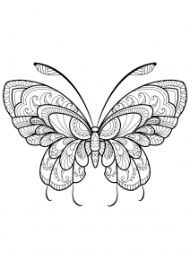 Coloring page butterflies free to color for kids
