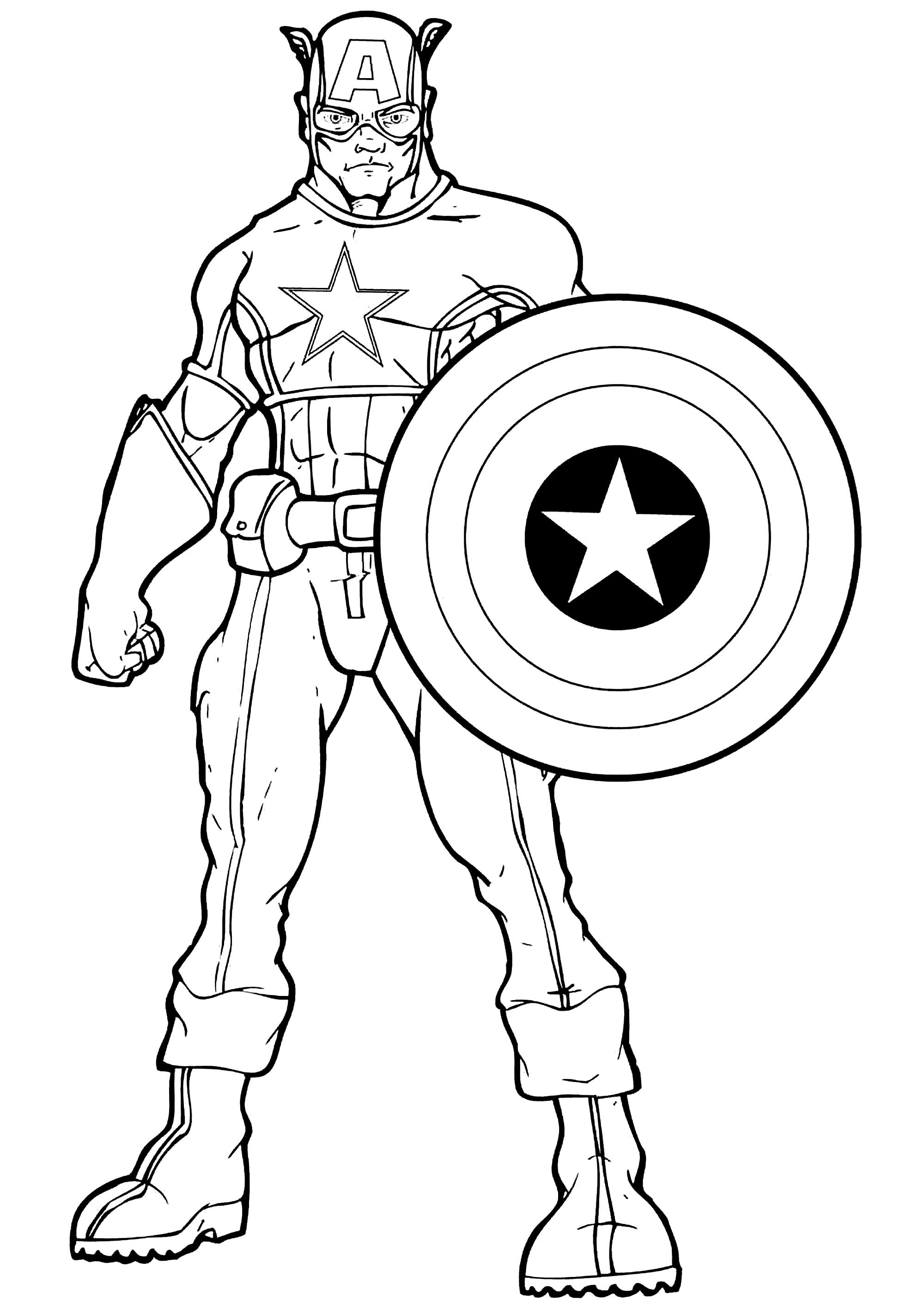 captain america captain america coloring pages