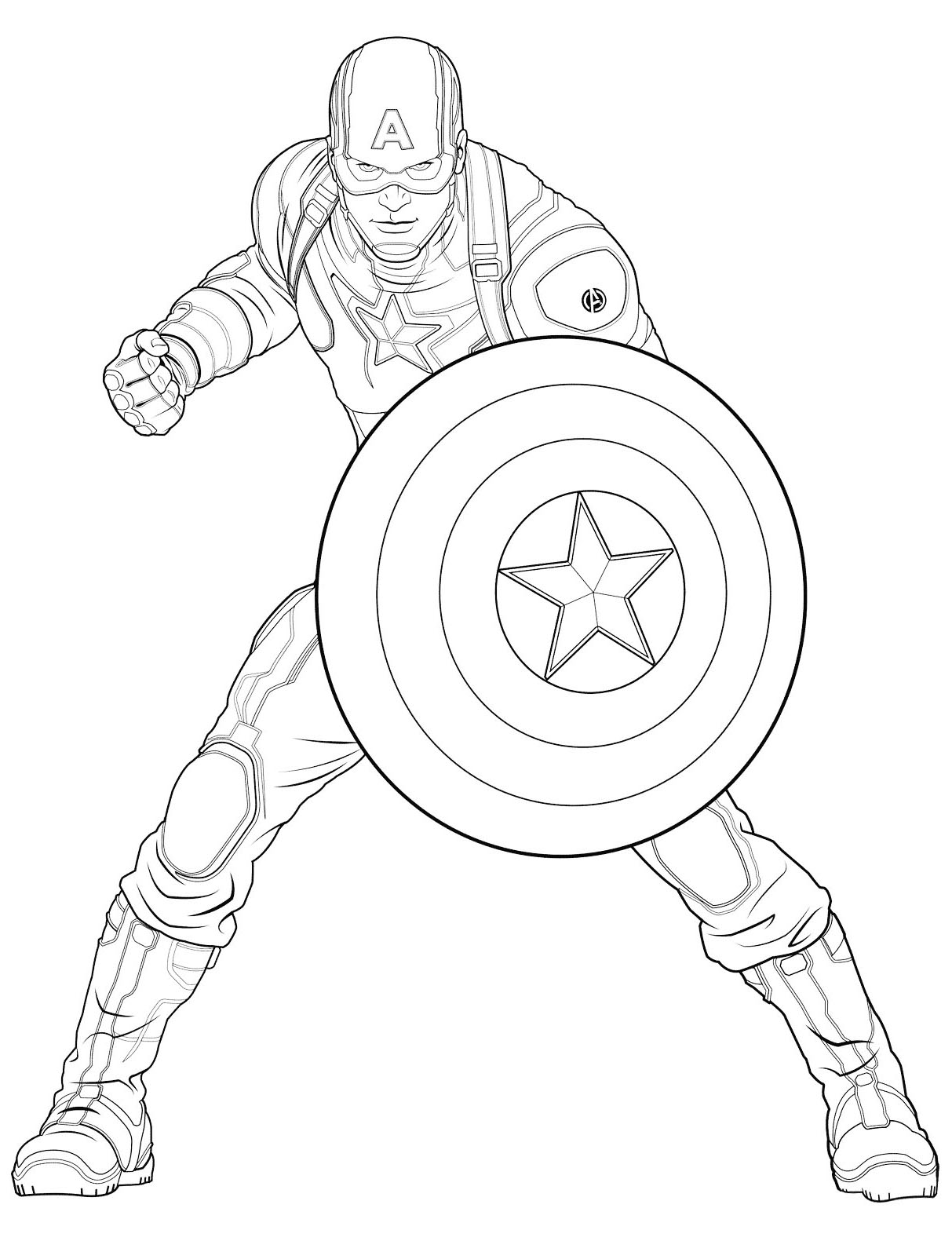 Captain America 2 Coloring Pages - Get Coloring Pages | 1595x1213
