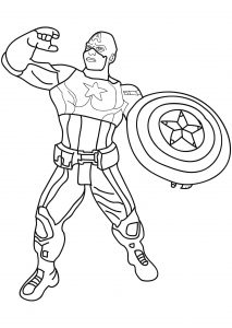 Captain America - Free printable Coloring pages for kids