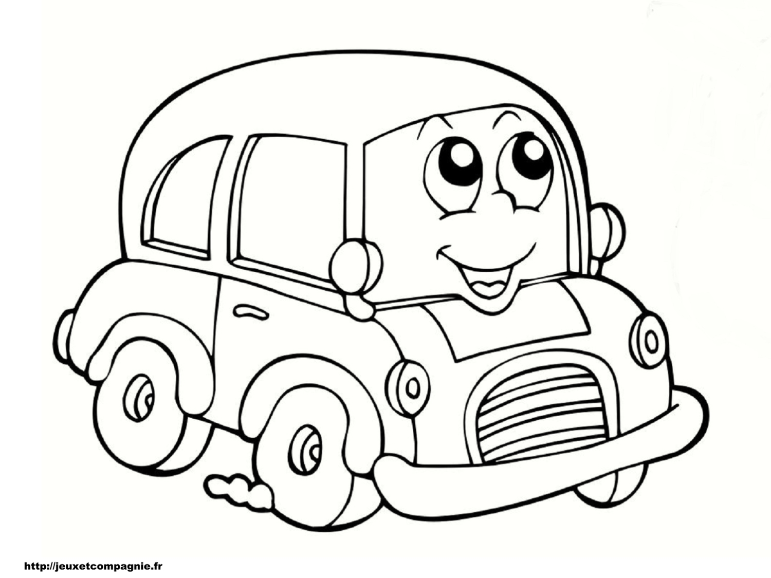 Car to color for children - Car Kids Coloring Pages