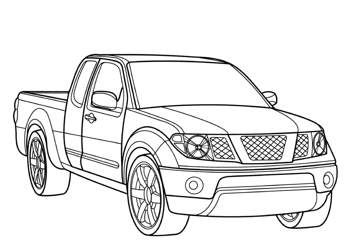 Cute free Car coloring page to download