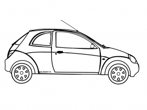 Coloring page car to print for free