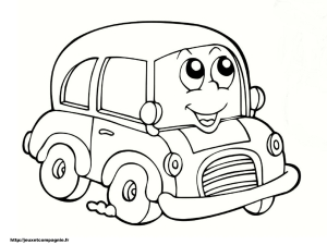 Coloring page car to color for children