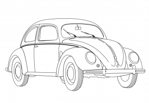 Coloring page car to color for kids