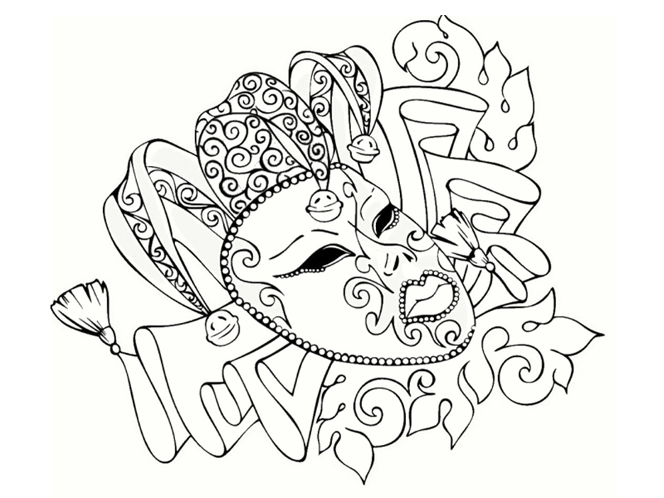 Carnival coloring page to print and color