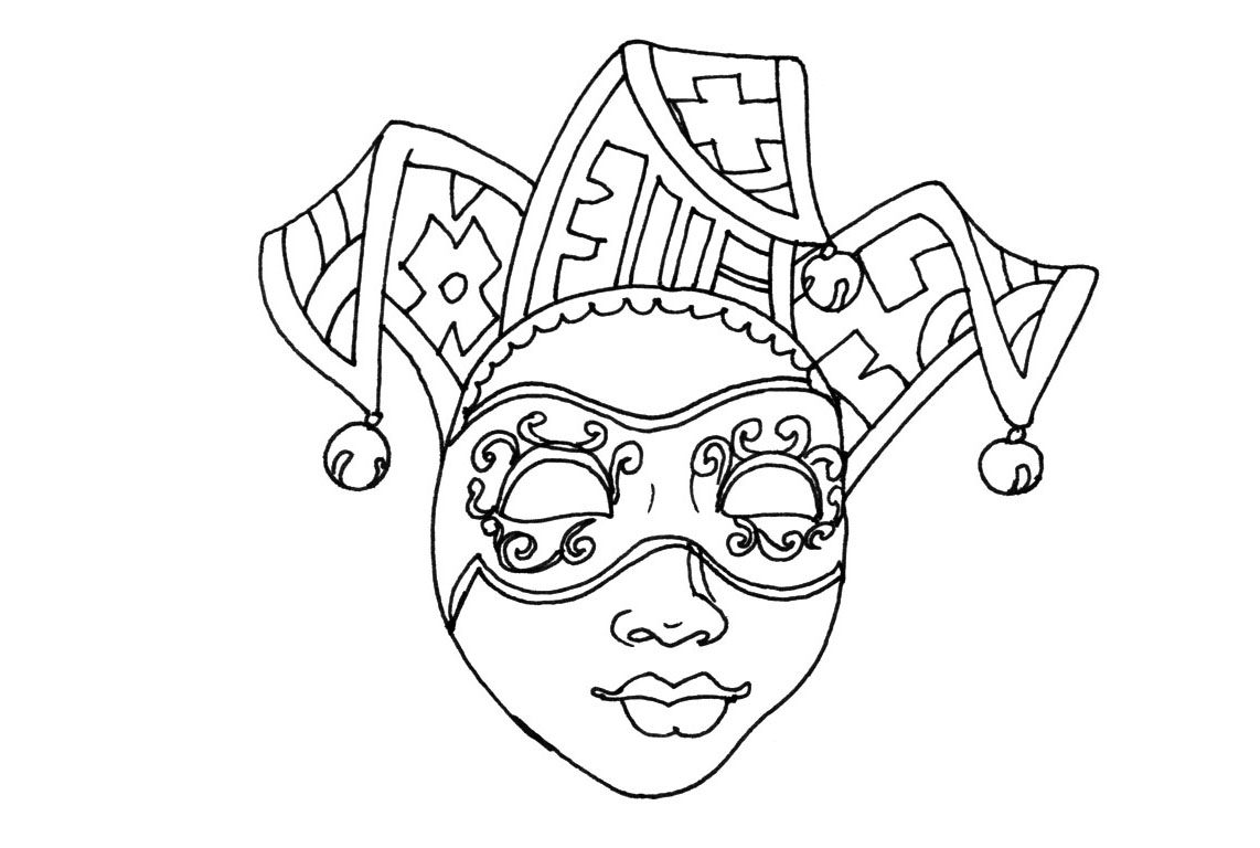 Beautiful Carnival coloring page