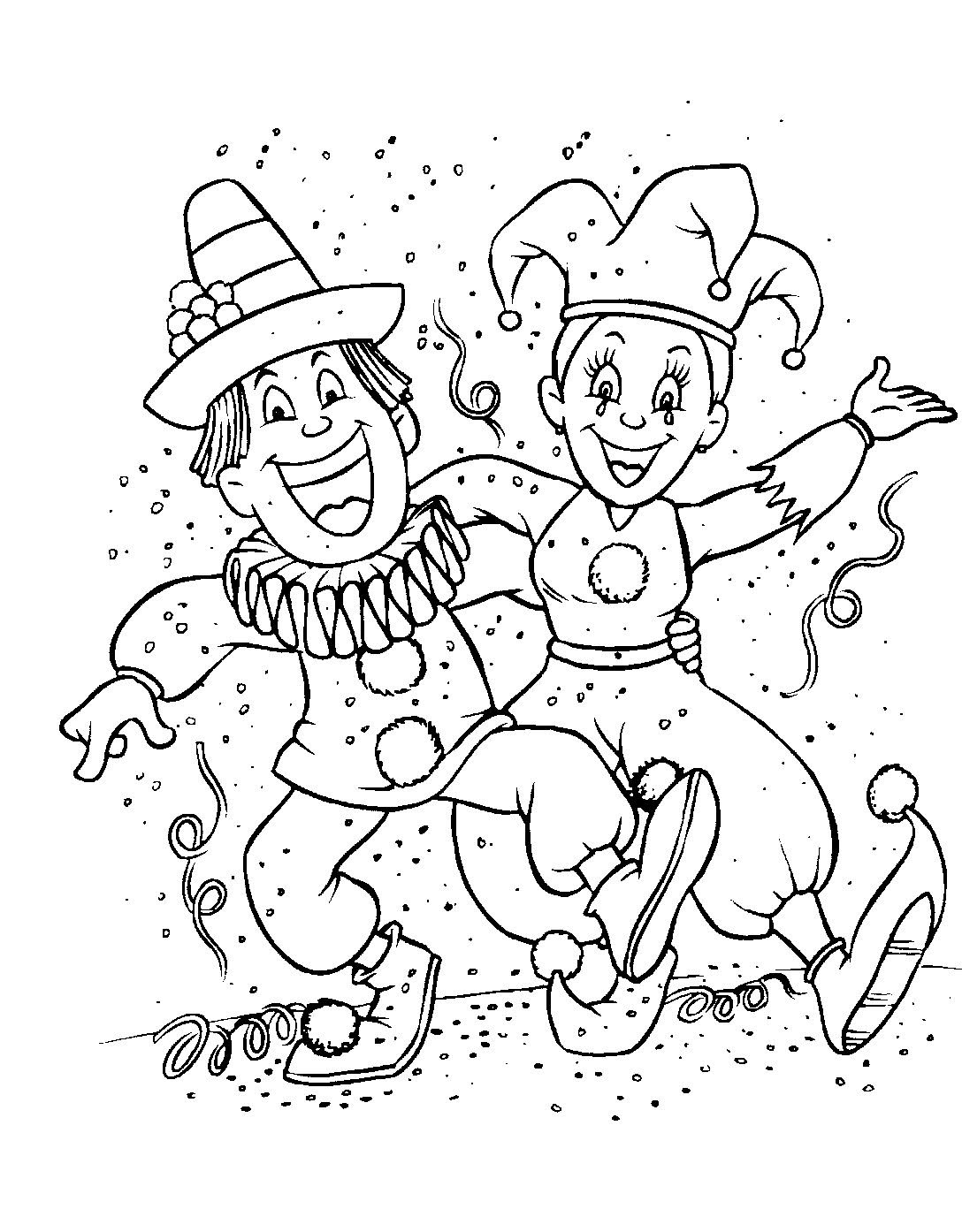 Funny Carnival coloring page