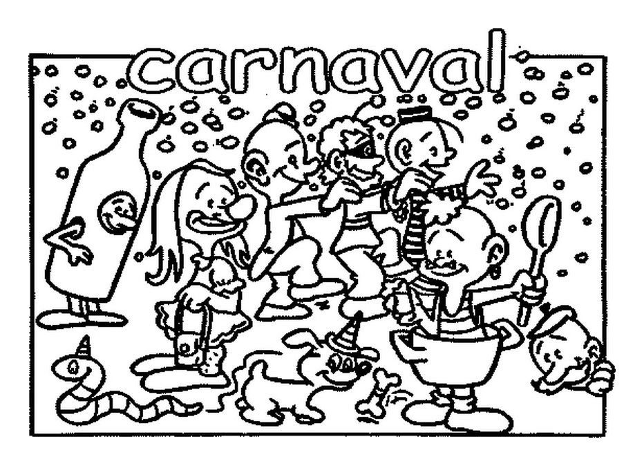Carnival for children - Carnival Kids Coloring Pages