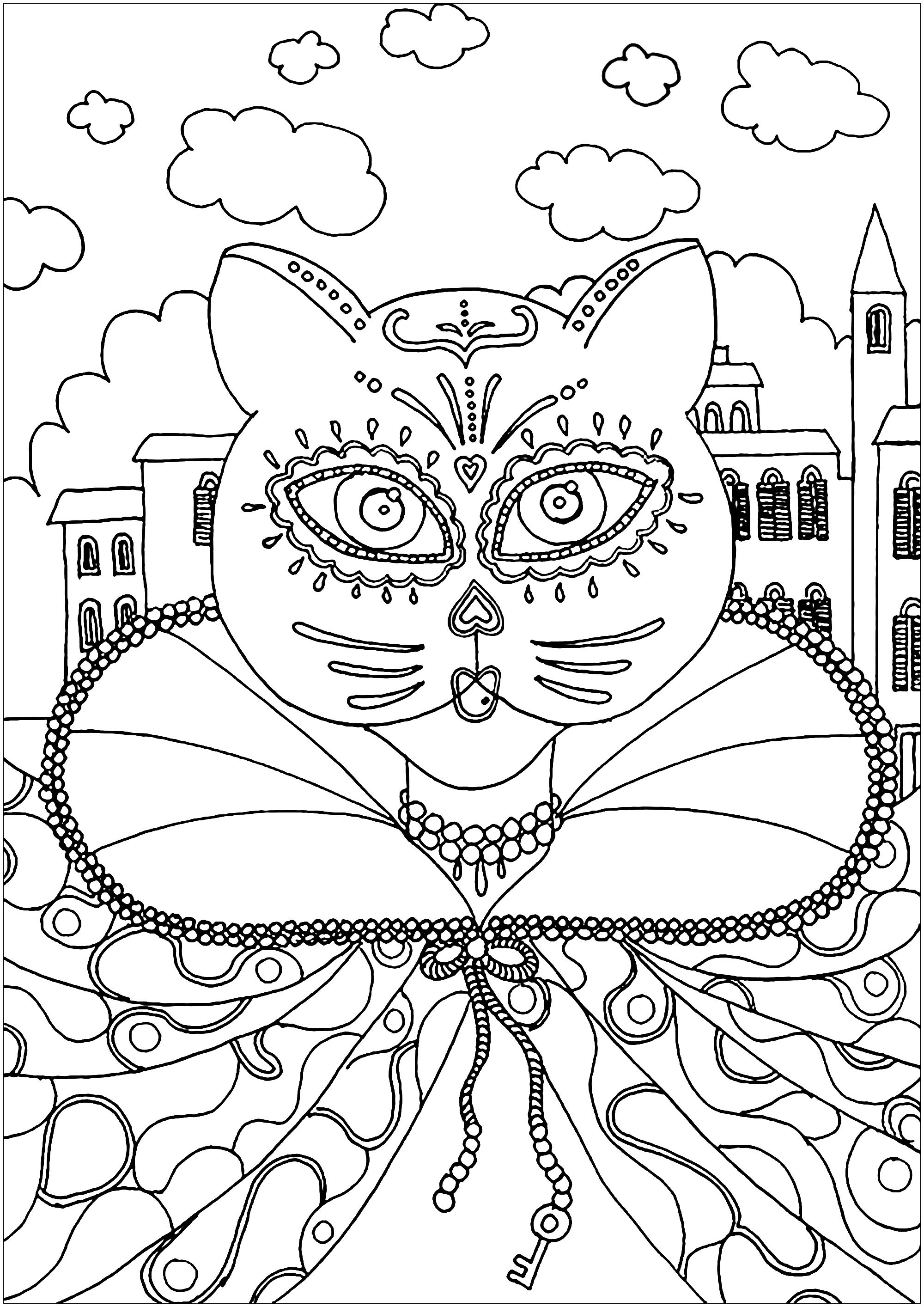 Cute free Carnival coloring page to download