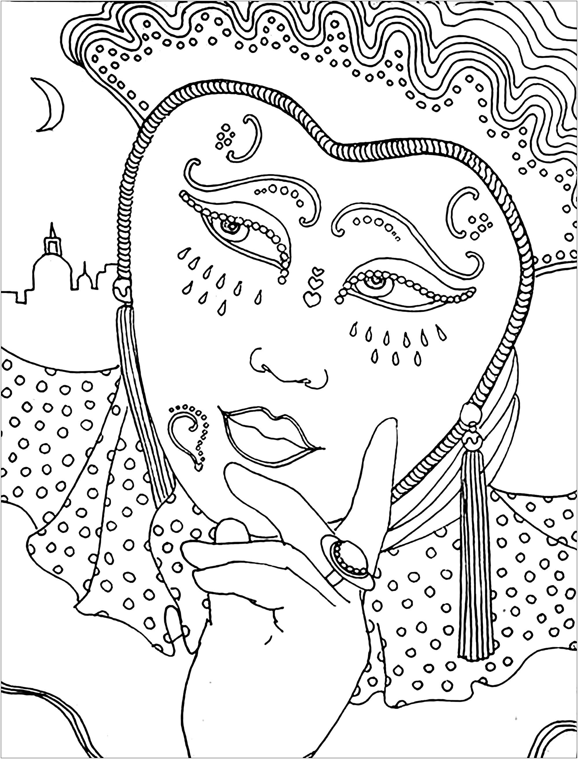 carnival coloring pages for kids - photo#25