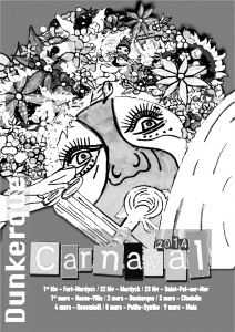 Coloring page carnival for kids
