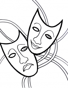 Coloring page carnival to print for free