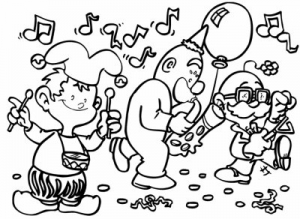 Coloring page carnival free to color for children