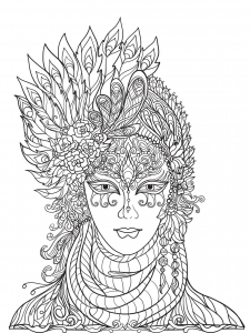 Coloring page carnival for children