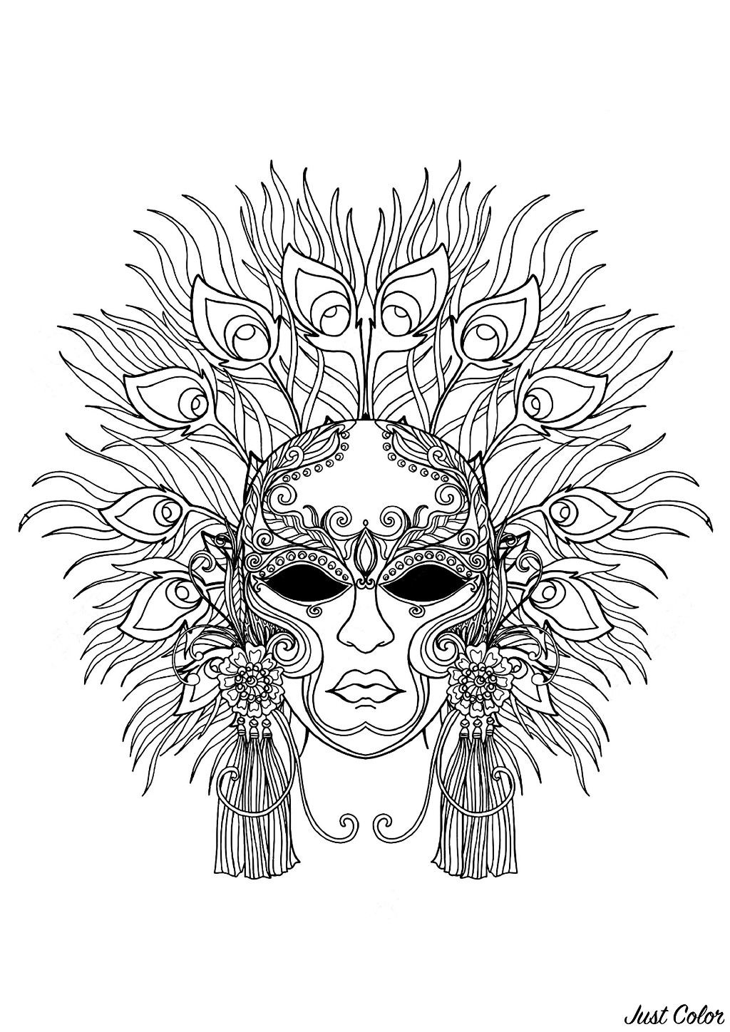 carnival to color for children carnival kids coloring pages