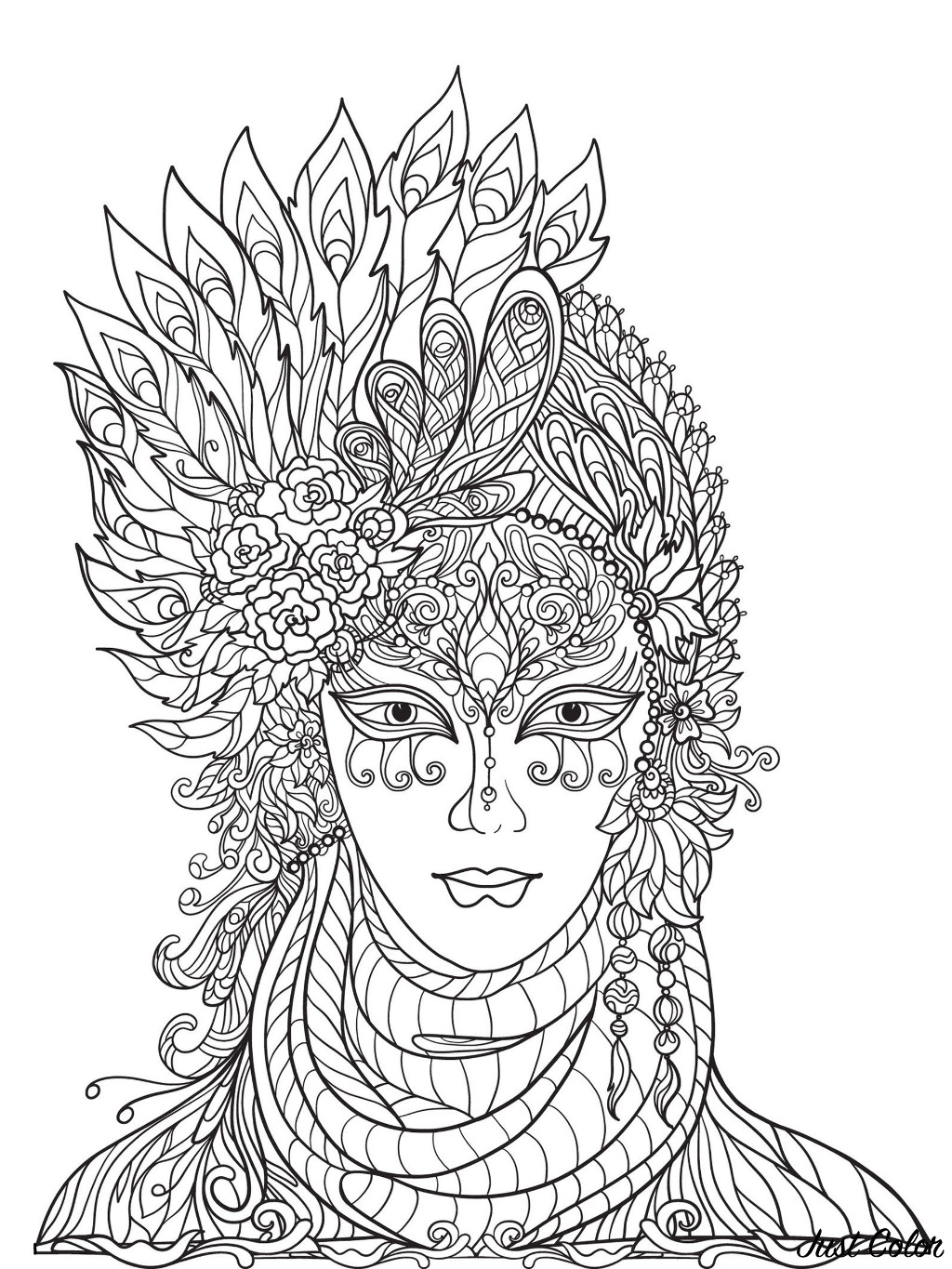 Simple Carnival coloring page for children
