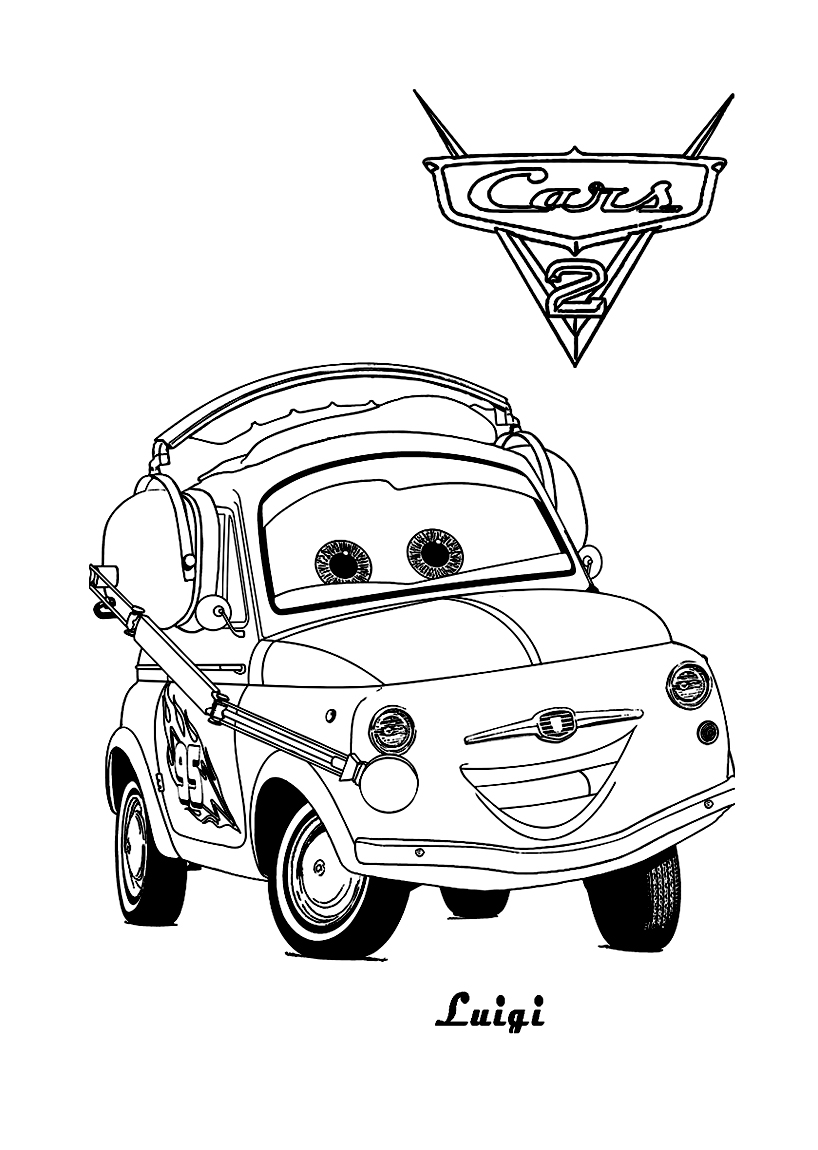 Cars 2 to download for free - Cars 2 Kids Coloring Pages