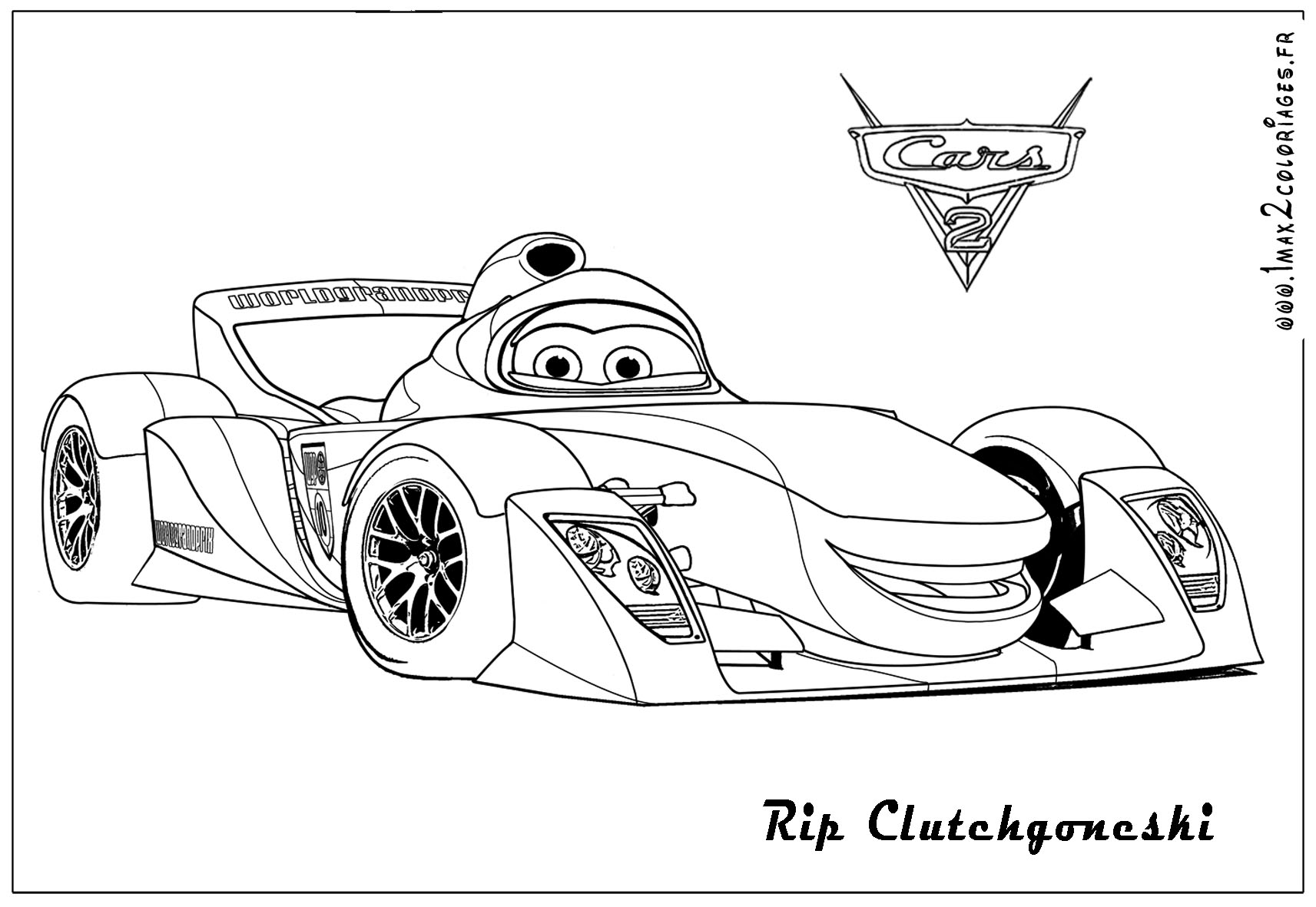 Cars 2 For Kids Cars 2 Kids Coloring Pages