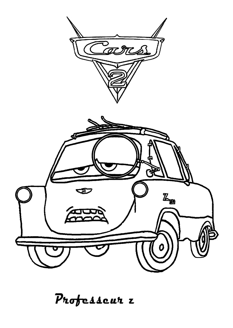 Cars 2 to color for kids - Cars 2 Kids Coloring Pages