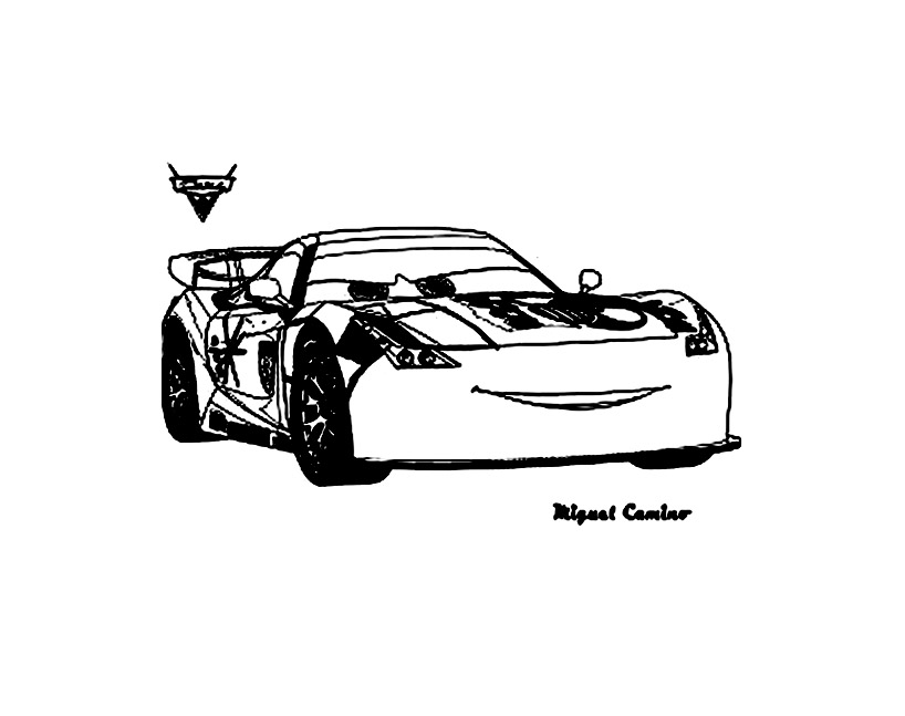 Free Cars 2 coloring page to download