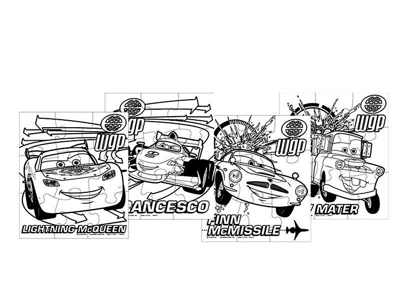 Simple Cars 2 coloring page for kids