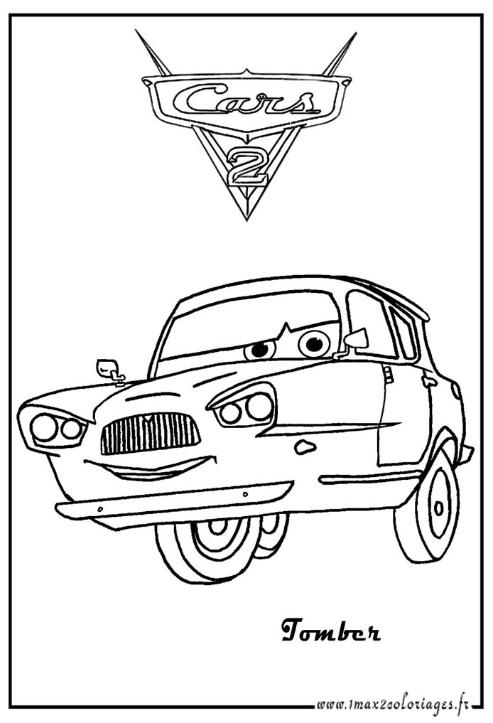 Simple Cars 2 coloring page