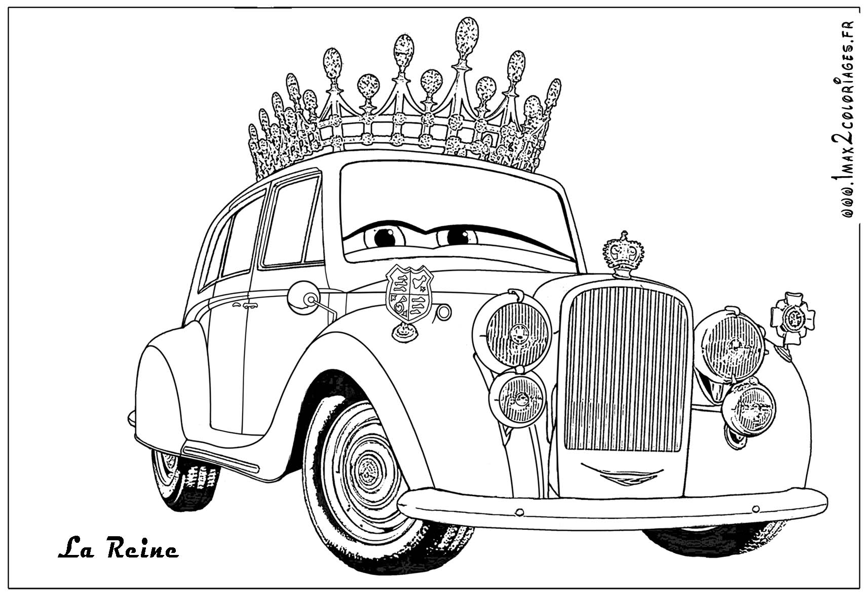 Simple Cars 2 coloring page to download for free