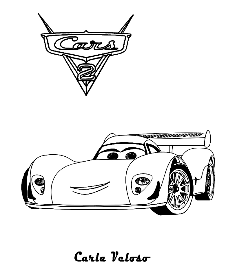 Cars 2 to print for free - Cars 2 Kids Coloring Pages