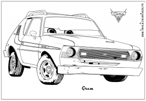 Coloring page cars 2 to print