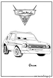 Coloring page cars 2 free to color for children