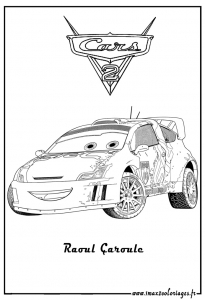 Coloring page cars 2 to download