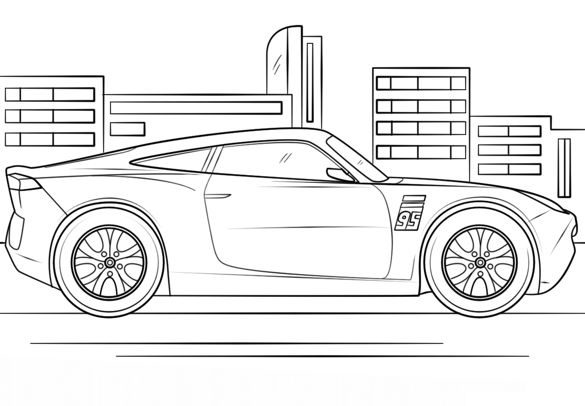 Beautiful Cars 3 Coloring Page To Print And Color