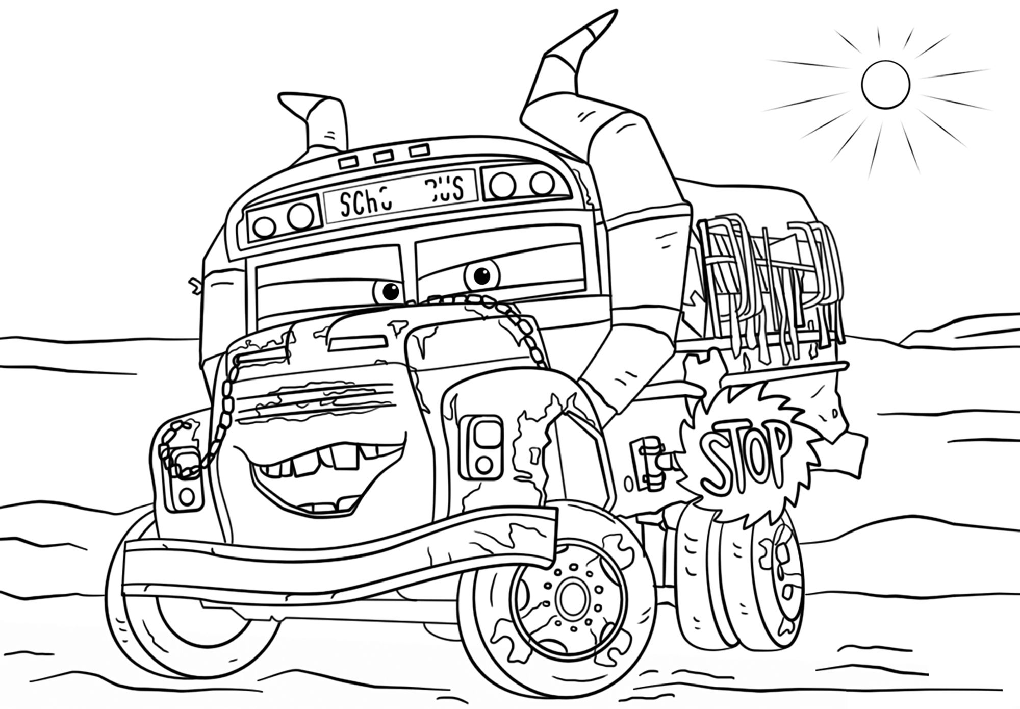 Cars 3 for kids - Cars 3 Kids Coloring Pages