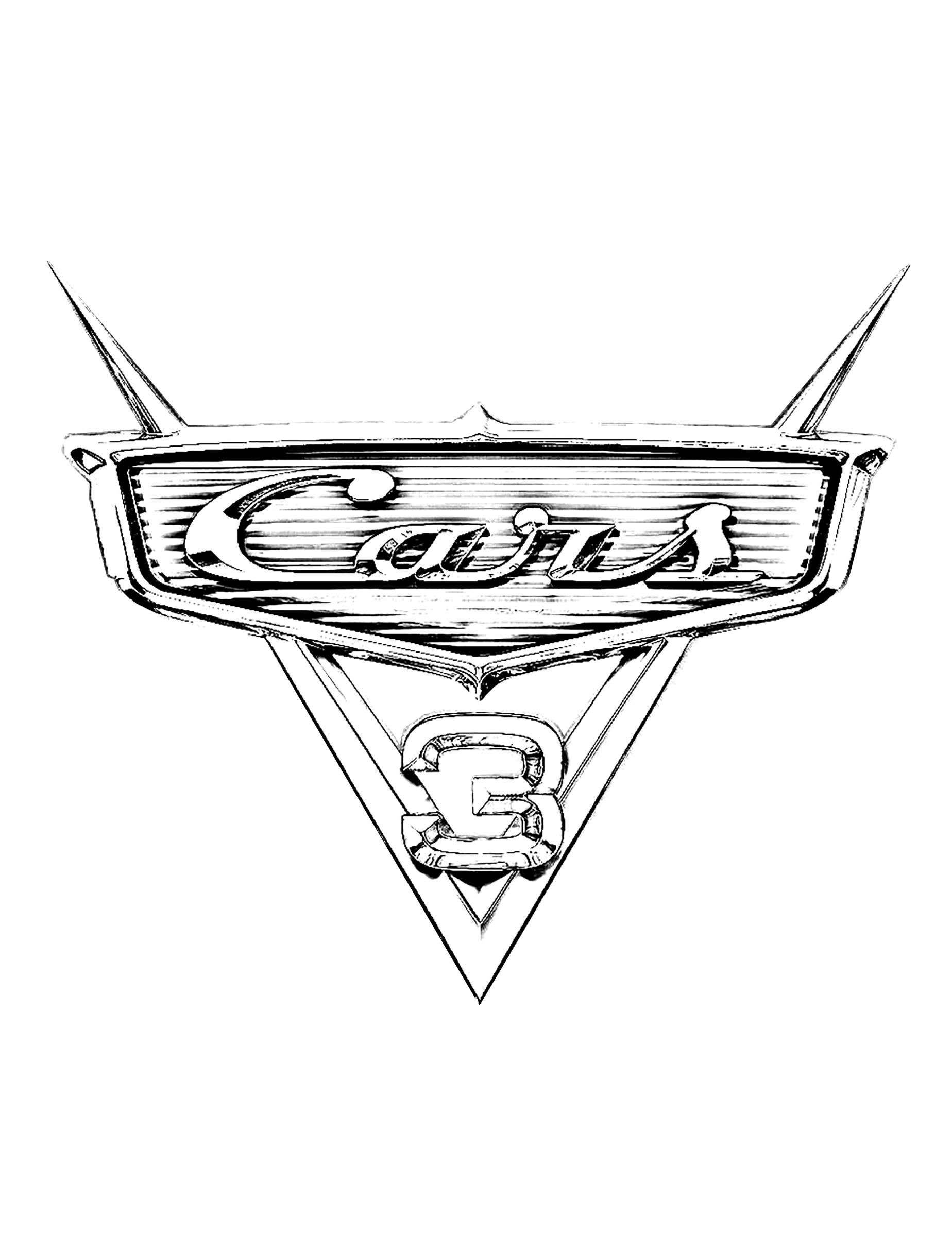 Simple Cars 3 coloring page for children