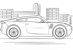 Coloring page cars 3 for children