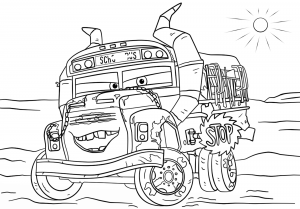 Coloring page cars 3 for kids