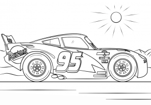 Cars 3 Coloring pages for kids
