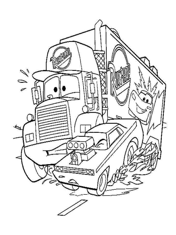 Cars free to color for kids - Cars Kids Coloring Pages