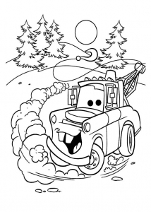 Coloring page cars to print