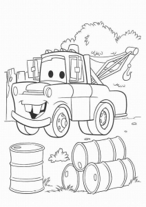 Printable Cars Coloring Page To Print And Color