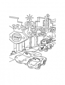 Coloring page cars for kids