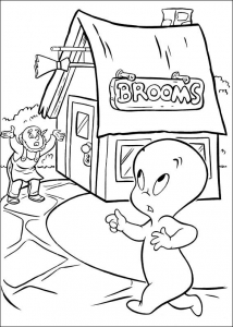 Coloring page casper to download