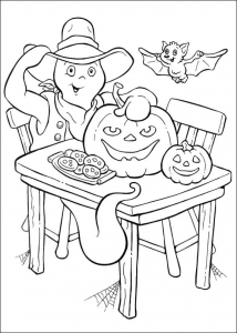 Coloring page casper to print for free