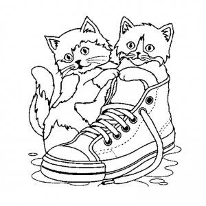 Coloring page cat for kids
