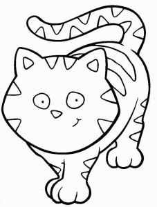 Coloring page cat free to color for children