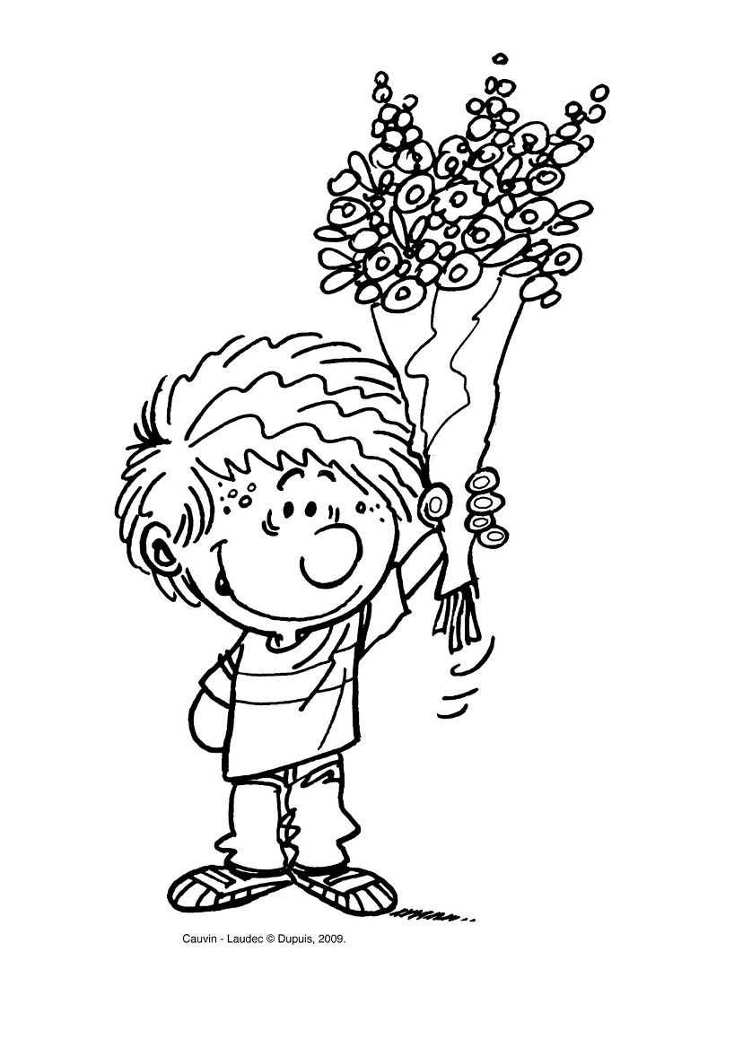 Easy free Cedric coloring page to download