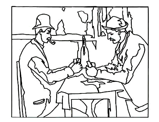 Funny Cezanne coloring page