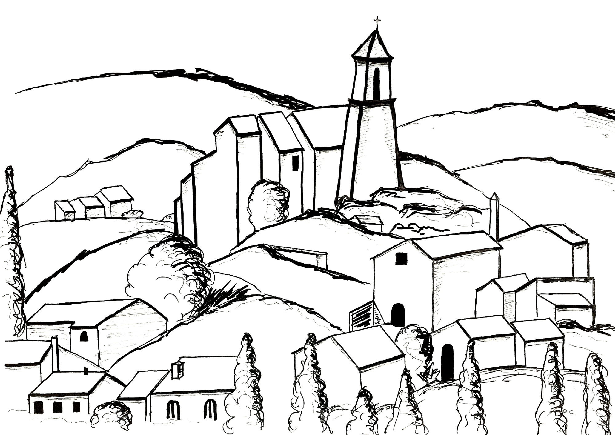 Cute free Paul Cezanne coloring page to download