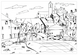 Coloring page paul cezanne to color for kids